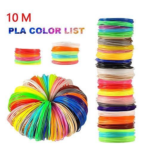 10M 10 Colors Pla 1.75mm Filament Printing Materials Plastic For 3d Printer Pen Filament Refills 3d Printing Drawing Filament Printer Accessories