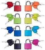 Candado de Llave (8 Unidades) Mini candado con Llave para el hogar y la Escuela Essentials para Equipaje de Seguridad, Mochila, Gimnasio Locker Lock, Maleta, Juego de Aula y Mucho más.