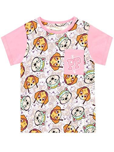 Paw Patrol Camiseta de Manga Corta para niñas La Patrulla C