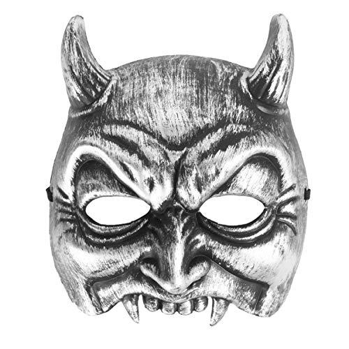SUPVOX máscara de Diablo de Halloween máscara de Media Cara de Terror máscara de Fantasma aterradora para Disfraz de Cosplay de Halloween