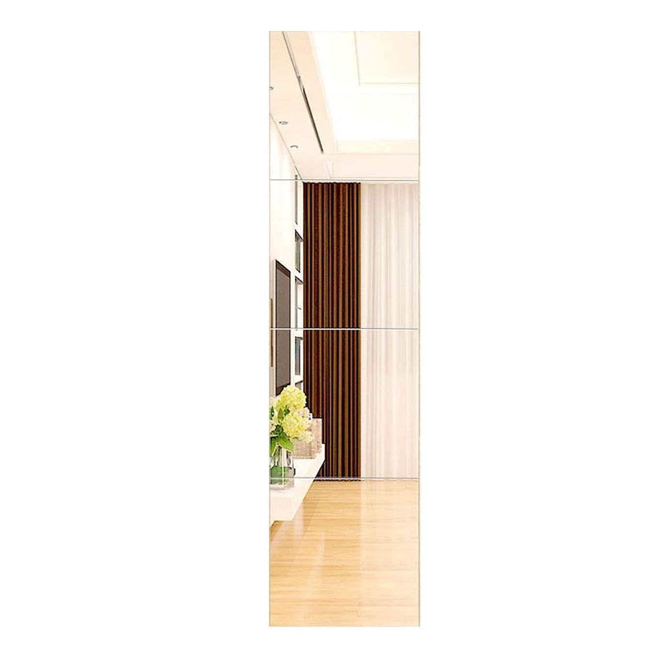 コンペイデオロギーカブTYJ-JP 鏡ガラス鏡フレームレスコンビネーションミラー壁掛けミラー衣料品店用鏡マルチスプライシングミラー鏡付 (Color : Silver, Size : 40*40cm)