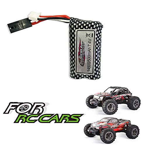 VATOS 7.4V/500mAh Rechargeable Battery for 1/16 4WD 9135/9137 Remote Control Car