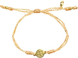 Breathe Blessing Bracelet - Metallic/Copper-Tone and Gold-Plated Medal
