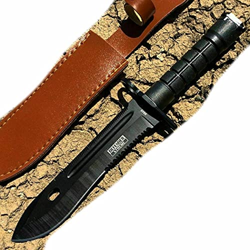 13' inch Tactical Survival Hunting Fixed Blade Black M7 Bayonet Pro Tactical Knife W Sheath
