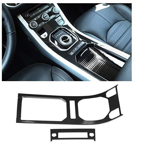 TBJDM Accesorios para El Interior del Coche 2 Piezas De Fibra De Carbono Art Center Console Panel De Engranajes Ajuste Adecuado para Land Rover Range Rover Evoque 12-17 Accesorios De Calidad