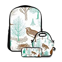 DURABLE MATERIALS: This cute school backpack set is made of high quality and lightweight polyester+oxford cloth. With sturdy stitching and firm shoulder strap, without loose threads or sloppy seams. Ergonomic, water-resistant, comfortable and easy to...