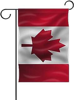 wallxxj Jardín Banner De Ondeando La Bandera De Canadá Bandera Nacional De Canadá Resistente A La Intemperie Bandera De Casa Bandera De Jardín Poliéster Estacional 32X48Cm