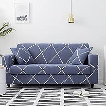 Housse de canapé élastique géométrique Housse de canapé d'angle combinée Housse de Fauteuil antidérapante Housse de canapé...