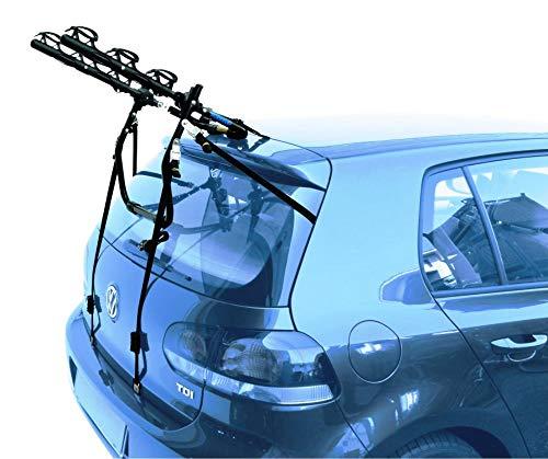 PROPOSTEONLINE Portabici Auto Posteriore Che Porta 3 Bici con Telaio Fibbie Ganci in Acciaio e Sistema blocca Biciclette ammortizzato Versabile Universale Regolabile