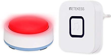 Retekess TH004 verzorgende oproep patiëntenalarm rode pager manager huisnoodoproep eenvoudig zoeken drukken signaal Cross ...