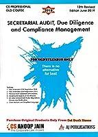 AJ Publication's Secretarial Audit, Due Diligence And Compliance Management CS Executive (Old Syllabus Only) June 2019