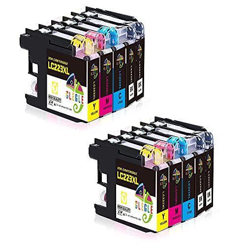 GLEGLE LC223XL Cartuchos Tinta Brother 10 Multipack Reemplazo para LC223 Compatible con Brother MFC-J5320DW J4420DW J4620DW J4625DW J480DW...