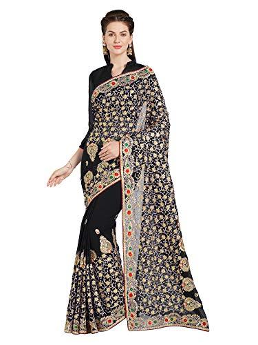 Sourbh Fashion Pvt. Ltd. Bollywood Frauen Braut Hochzeit Saree Mirchi Fashion Bestickt indischen Sari