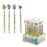 Lot de 4 Crayons & 4 Gommes Chevaliers & Magiciens - Crayons à Papier