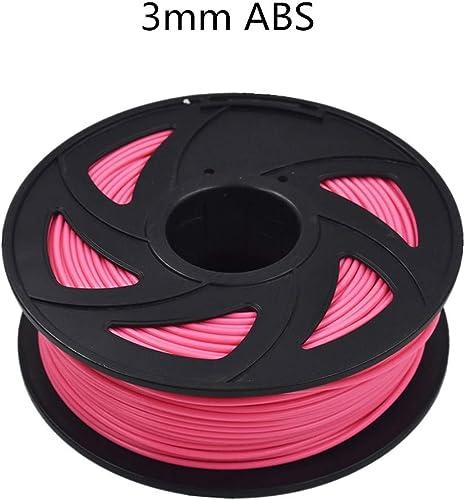 discount ABS 3D Printer Filament - 2.20 lb (1KG) The Diameter lowest of 3.00 mm, Dimensional Accuracy ABS online sale Multiple Color (Fluorescent Rose) online