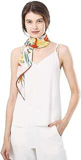 100 Silk Square Scarf For Women Chamo Pomeo Fashion Pattern Large Satin Wrap Flowers Headscarf 35.4''x35.4''