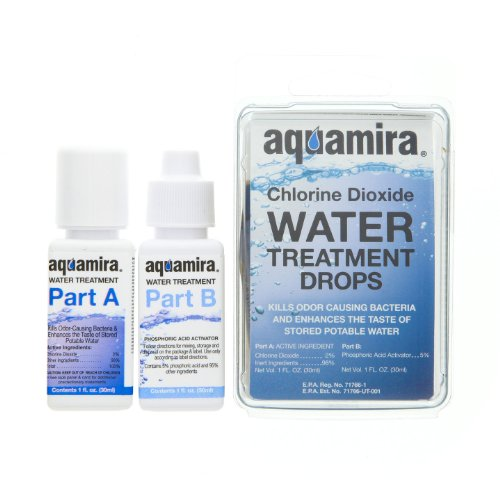 Aquamira - Chlorine Dioxide Water Treatment Two Part Liquid (1 oz Dopper Bottles)