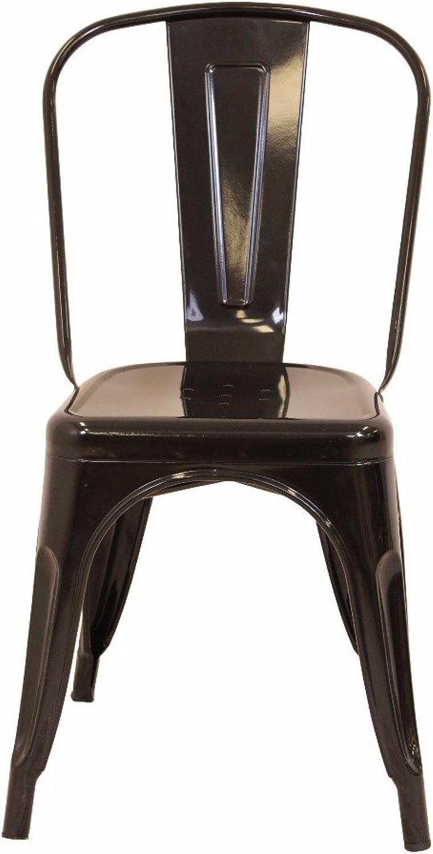 WY666 Metal Chair - Black