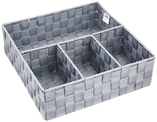 WENKO Organizer Adria - Badorganizer, 32 x 10 x 32 cm, grau