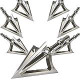 JIANZD Archery Broadheads 100 Grain Fixed Blades Stainless Steel Hunting Broadheads for Crossbow...