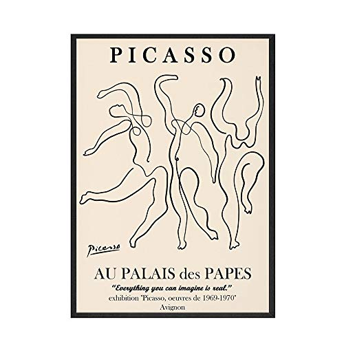 Póster nórdico de Picasso Matisse, impresiones abstractas de flores para niña, cara, arte de pared, cuadro familiar, lienzo sin marco, pintura A1 30x45cm