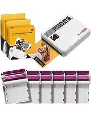 Kodak P300R Mini 3, Impresoras Portatiles Bluetooth + 68 Fotos, Impresora Pequeña De Fotos Cuadradas Tamaño 76X76Mm, Compatible con Smartphones iOS Y Android - Blanco