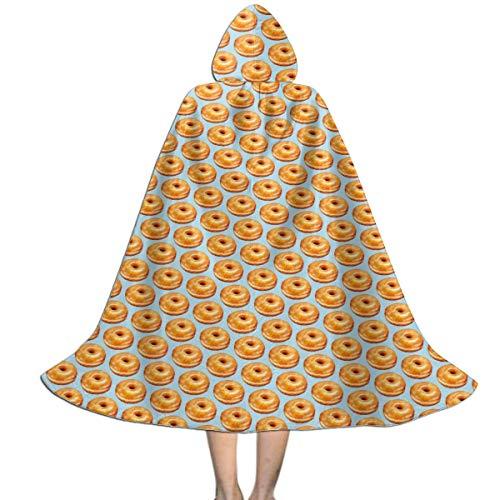 Melinda Perrodin Bagel Food Funny Pattern Cape...