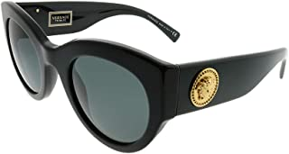 فيرساتشي نظارة شمسية دائري ,للنساء ,رمادي,VE4353 GB1/87 51