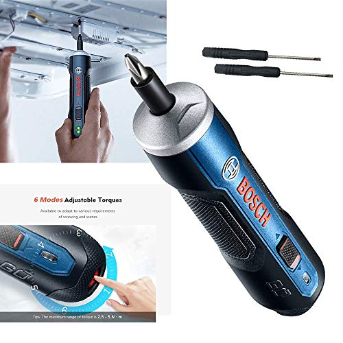 Bosch Go 3,6 V Smart Akkuschrauber Set USB-Ladekabel und Adapter Top Qualitätsproduk (A)