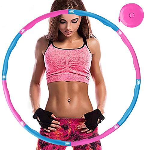 Aoweika Hula Hoop für Erwachsene Zur Gewichtsreduktion,EIN 6-8-Teiliger Abnehmbarer Fitness Reifen,für Fitness/Training/Bauchmuskelkonturen