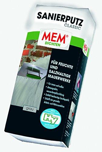 MEM Sanierputz Classic 25 kg grau - Isoputz - Anti-Schimmelputz