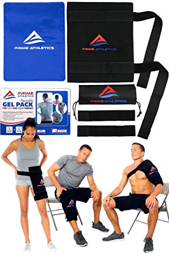 Purchase Large Reusable Gel Ice Pack for Injuries with Wrap - Hot & Cold Therapy - Back Knee Shoulde...