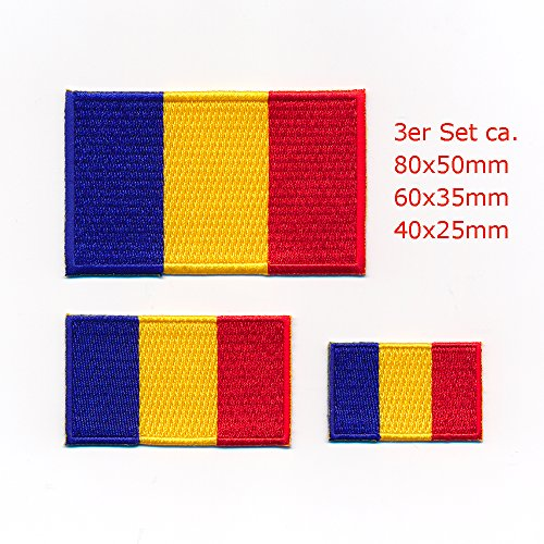 3 Rumänien Bukarest România Flaggen Flags Patch Aufnäher Aufbügler Set 1052