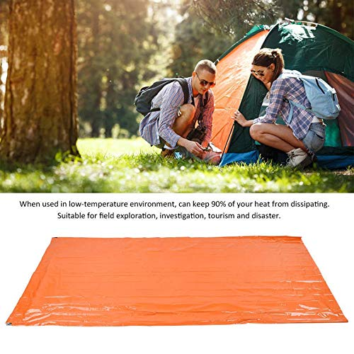 JIUYUE Sleeping bags Waterproof Outdoor Portable Emergency Sleeping Bag Keep Warm Moisture-Proof Pad Reflective Camping Mat Orange For Camping Sunbeds