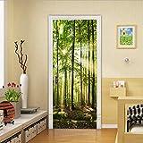 Diy Creative 3D Sunshine Forest Door Paste Reacondicionado Papel Autoadhesivo Dormitorio Habitación Pasillo Liquidación Secreta Decorativo Pvc Papel Pintado Pegatinas