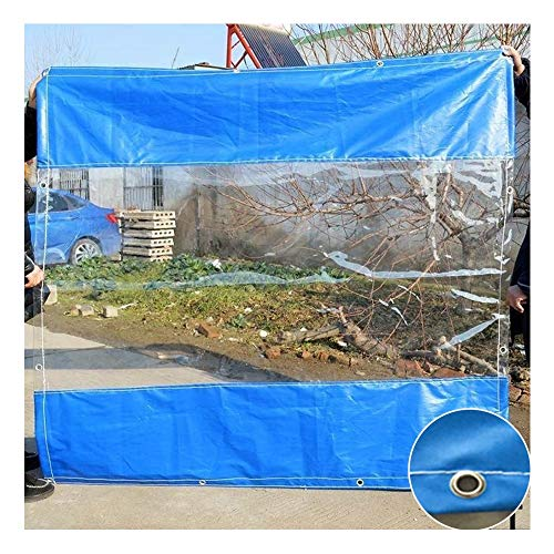 GDMING Clear Tarpaulin Waterproof Extra Thick Heavy Duty, Outdoor Transparent Rainproof Curtain Panel, For Garden Garage Pergola Cover,Custom Size (Color : Clear, Size : 1.8x7m)