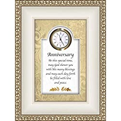 CB Gift Heartfelt Collection-Times Essence Framed 3D-Table Top Clock With Prayer, 6 x 8-Inches, Anniversary-religious