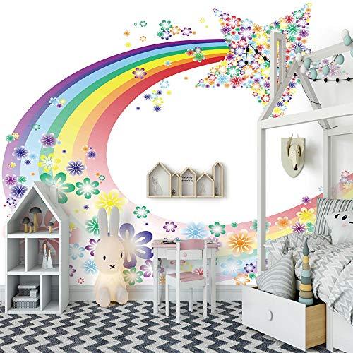 Murale 3D Papel pintado tejido no tejido Decoración de Pared decorativos Murales moderna de Diseno Arcoiris paisajes moderno Vinilo Art Print