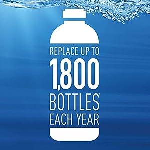 Brita Plastic Water Filter Bottle, 26 oz, Orchid
