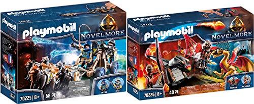 Playmobil® Novelmore 2er Set 70225 70226 Novelmore Wolfsgespann und Wasserkanone + Burnham Raiders Kampftraining des Drachen