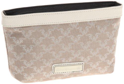 Friis & Company Damen Fresno Costmetic Purse Bedruckt, Weiß - weiß, one Size