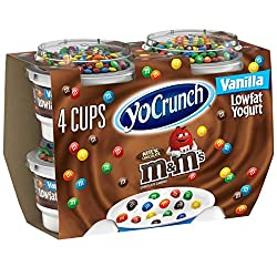 YoCrunch, Vanilla M&M Yogurt, 4 oz, 4-pack