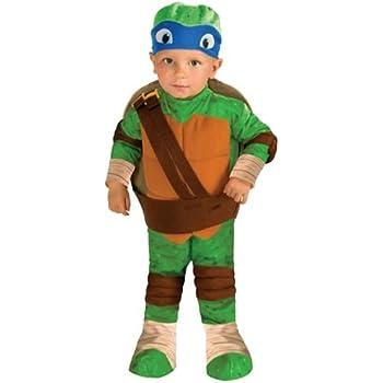 Baby Boy Teenage Mutant Ninja Turtles Cape Muscle Bodysuit Size 3 6 9 Months