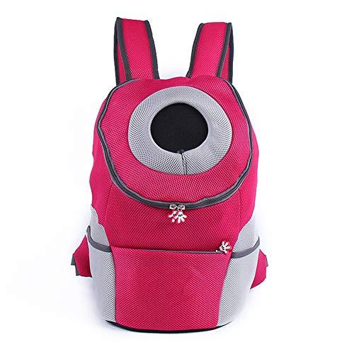 WLDOCA Reise-Transport-Rucksack für Hunde Katze, Breathable Bequeme Haustiertasche,Pink,L