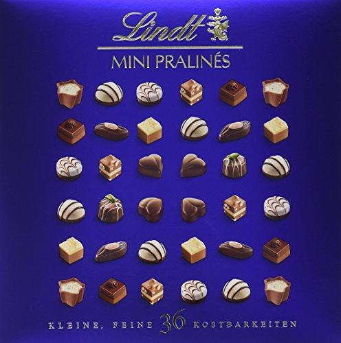 Lindt Mini Pralinés, Auswahl an köstlichen Pralinen Variationen, 9 unterschiedliche Sorten, glutenfrei, 180g