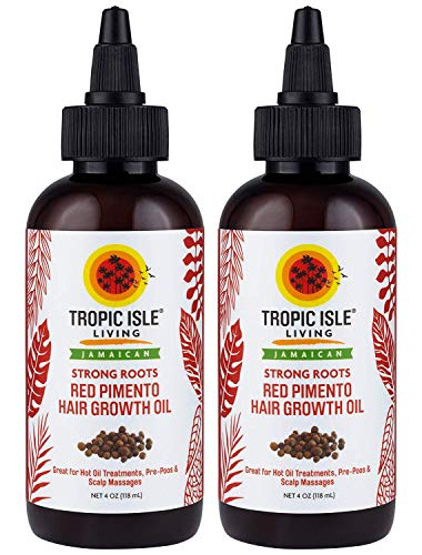 Tropic Isle Living Jamaican Strong Roots Red Pimento Hair Growth Oil, 4 oz by Tropic Isle Living