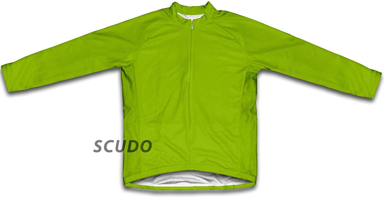 Green Neon Winter Thermal Cycling Jersey for Women
