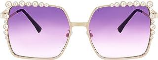 FEISEDY Women Oversized Square SunglPearl Design Ladies 2021 New Luxury Fashion Big Shades B2747