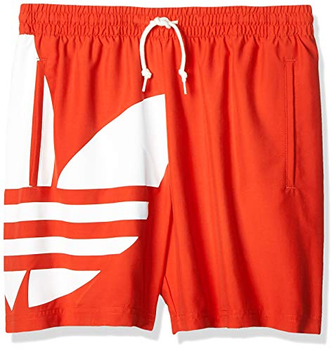 adidas Herren Big Trefoil SWM Swimsuit, Lush red, L