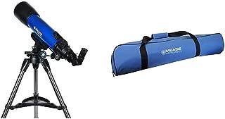 Meade Instruments 209006 Infinity 102mm AZ Refractor Telescope &  Instruments 609002 Infinity 80-90-102mm Carry Bag Telescope, Blue